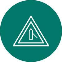 Vector menor Cross Road do ícone de sinal de estrada certa
