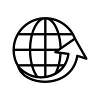 Vector Around the World Icon