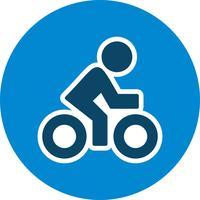 Cyklist Ikon Vektor Illustration