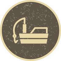 Vector icono de barco de pesca