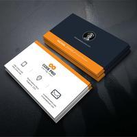 Orange form visitkort
