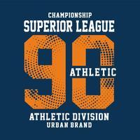 tipografia do esporte do campeonato