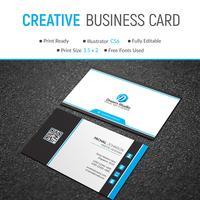 Elegante bedrijfskaart