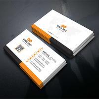 Oranje en zwarte bedrijfskaart