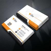 Carte de visite entreprise orange vecteur libre