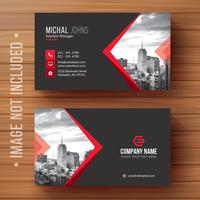 Red shape visit card Free Vector