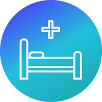 Vector bed pictogram