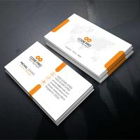 Visitekaartje met oranje vorm