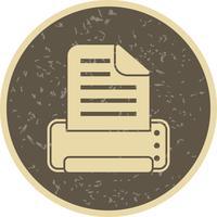 Icona di stampa vettoriale