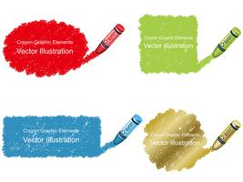 Set of crayon daub background in four colors.