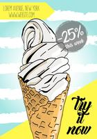 Cartel de helados. vector