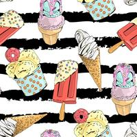 Seamless pattern with ice cream.