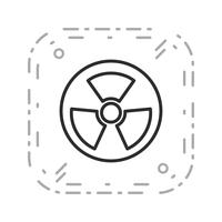 Vector Radio Active Road Sign Icon