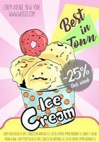 Cartel de helados.