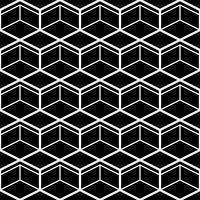 Seamless Pattern with White Line Hexagons