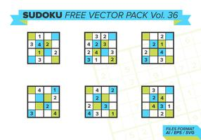 Sudoku Gratis Vector Pack Vol. 36