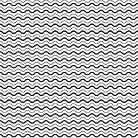 Seamless Pattern with Smooth Wave Lines vector