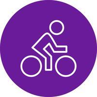Ilustração em vetor ícone ciclista