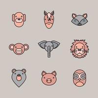 Geometrische dierlijke gezichten
