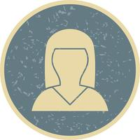 Female Avatar Icon Vector Illustration