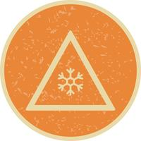 Vector Risk of ice Road Sign Icon