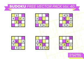 Sudoku Free Vector Pack Vol. 40