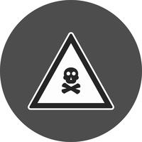 Vector Poison Gas Road Sign Ikon
