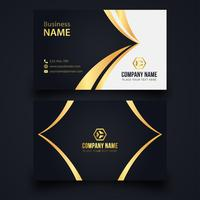Black and gold business card