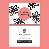 Pink Flower Business Card Template