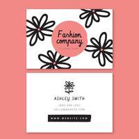 Rosa Blume Visitenkarte Vorlage
