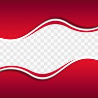 Red wavy shapes on transparent background