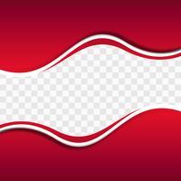 Formes ondulées rouges sur fond transparent