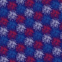 red white blue fireworks background pattern vector
