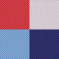 seamless red white blue polka dot patterns vector