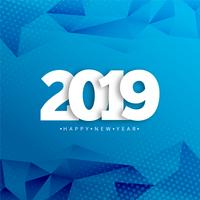 Happy new year 2019 typography with creative design vector