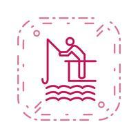 Visserij pictogram vectorillustratie