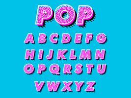 Retro lettertype