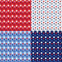 naadloze rode witte blauwe sterrenpatronen