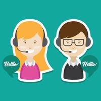 Customer Service Vector Set