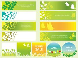 Set of assorted spring banners/cards.
