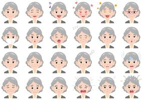 Businesswoman various expressions set.  vector