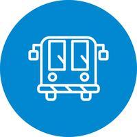 Icono del autobús del aeropuerto del vector