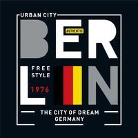 tipografía de imágenes de berlín