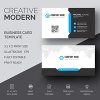 Blue elegant corporate card