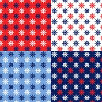 seamless red white blue ship wheel patterns