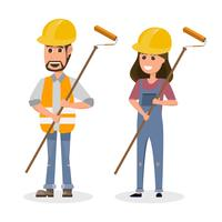 architect, foreman, engineering construction worker in different character