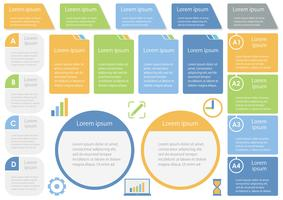 Grupo de informação-gráficos, etiquetas, e ícones relacionados com o negócio assorted isolados no fundo branco.