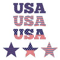 EUA e estrelas azuis brancos vermelhos