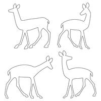 deer outline silhouettes