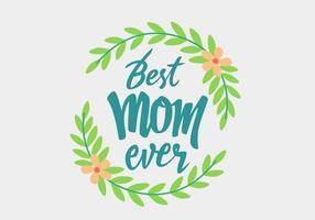 Día de la madre letras hechas a mano